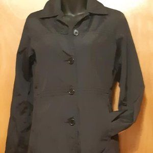 Kenneth Cole Black Trench Jacket Size 8P